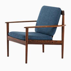 Dänischer Sessel mit Gestell aus Palisander von Grete Jalk für P. Jeppesens, 1960er