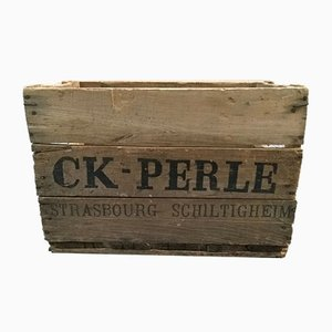 CK Pearl Wood Crate, 1950s