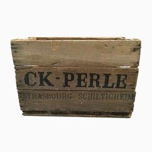 Holzkiste von CK Perle, 1950er