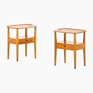 Ash Side Tables from Nordiska Kompaniet, 1950s, Set of 2