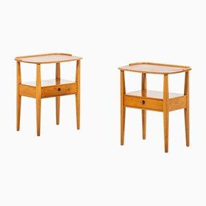 Tables d'Appoint en Frêne de Nordiska Kompaniet, 1950s, Set de 2