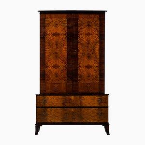 Mueble de abedul y palisandro de Erik Chambert, años 20
