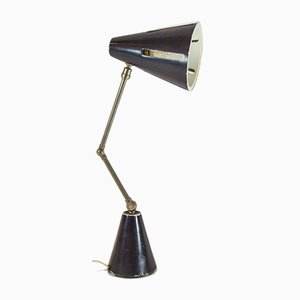 Lampe de Bureau Modèle 7 en Fer par H. Th. JA Busquet pour Hala, 1950s
