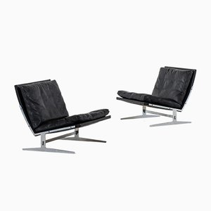 Danish Bo-561 Leather Easy Chairs by Preben Fabricius & Jørgen Kastholm for Bo-Ex, 1960s, Set of 2
