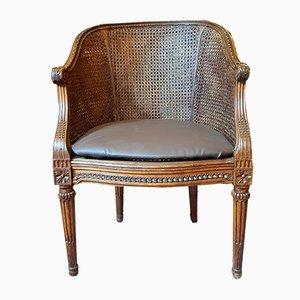 Antique French Beech Sculptural Desk Chair