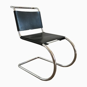 Italian Chrome Plated Dining Chair by Ludwig Mies van der Rohe, 1970s
