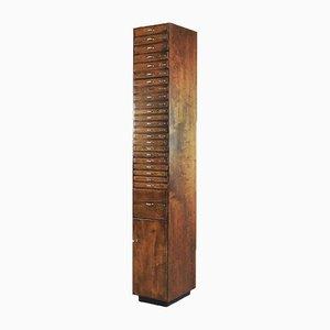 Mueble industrial de abedul, metal y pino, años 20