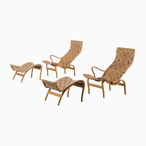 Birch Lounge Chairs by Bruno Mathsson for Karl Mathsson AB, 1960s, Set of 2
