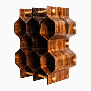 Beech and Rosewood Wine Rack by Torsten Johansson, 1950s