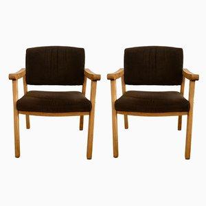 Italienische Mid-Century Esszimmerstühle aus Buche, 1960er, 2er Set