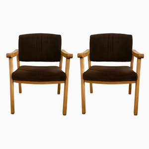 Mid-Century Italian Beech Dining Chairs, 1960s, Set of 2
