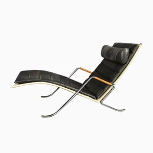 Danish FK 87 Grasshopper Chaise Lounge by Preben Fabricius & Jørgen Kastholm for Lange Production, 2000s