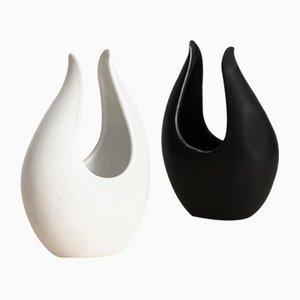 Jarrones Caolina de cerámica de Gunnar Nylund, años 50. Juego de 2