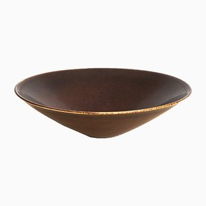 Cuenco escandinavo moderno de cerámica de Carl-Harry Stålhane, años 50