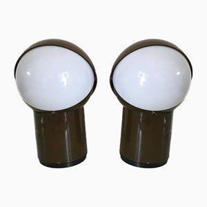 Italienische Space Age Tischlampen aus Kunststoff von Gagiplast, 1960er, 2er Set