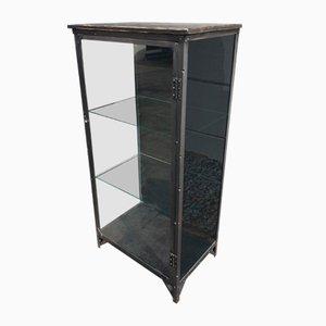 Vintage Industrial Iron Display Cabinet, 1930s