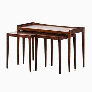 Tavolini ad incastro in palissandro di Kurt Østervig per Jason Møbler, Danimarca, anni '60