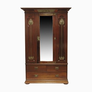 Vintage Arts & Crafts Mahogany Wardrobe from Shapland & Petter, 1920s