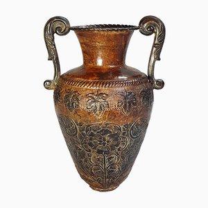 Mid-Century Hand-Crafted Iron Vase, 1960s