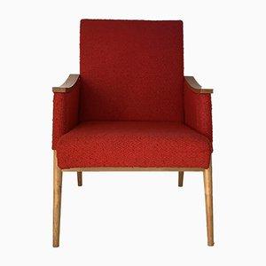 Mid-Century Beech Lounge Chair, 1950s