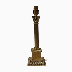 Lámpara de mesa Imperio antigua de latón