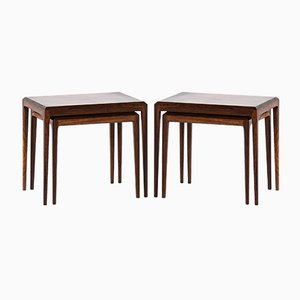 Danish Rosewood Nesting Tables by Johannes Andersen for CFC Silkeborg, 1960s, Set of 2