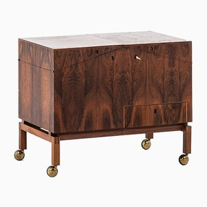 Danish No. 284 Brass and Rosewood Cabinet by Leif Alring for C.F. Christensen, 1964