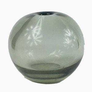 Moderne rauchgraue skandinavische Drop Vase von Per Lütken für Holmegaard, 1960er