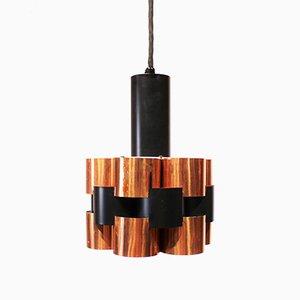 Lámparas de techo danesas de cobre y metal de Werner Schou, años 60. Juego de 2