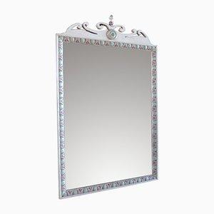 Italienischer Vintage Spiegel mit geschnitztem Rahmen, 1980er
