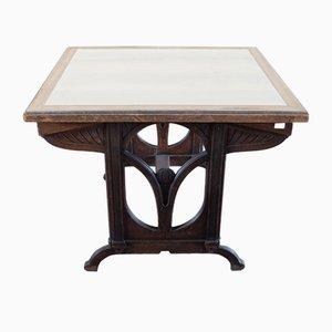 Antiker italienischer Schreibtisch aus Mahagoni & Pappelholz