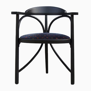 Art Nouveau Bentwood and Fabric Model 81 Dining Chair from Thonet, 1988