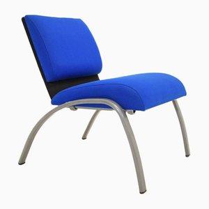 Moderner blauer Vintage Sessel, 1980er