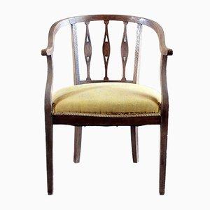 Italienischer Vintage Beistellstuhl aus Kastanienholz, 1920er