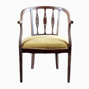 Vintage Italian Chestnut Side Chair, 1920s