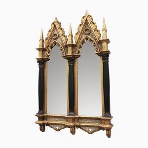Vintage Italian Neogothic Mirror, 1970s