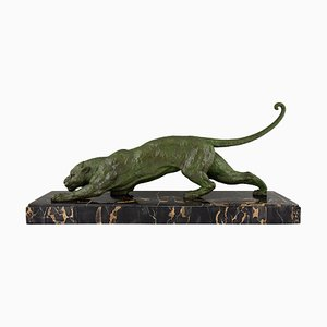 Art Deco Panther Sculpture by Demetre H. Chiparus, 1930s