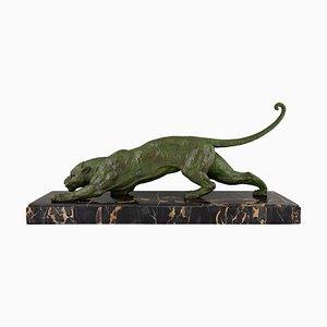 Escultura de pantera Art Déco de Demetre H. Chiparus, años 30