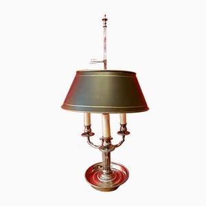 Lámpara de mesa francesa antigua bañada en plata