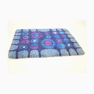 Teppich in Blau & Lila, 1970er