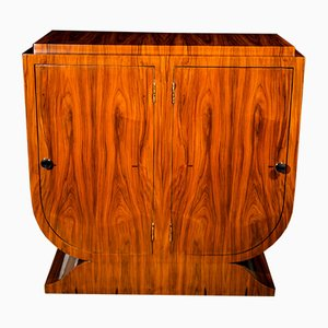 Vintage Art Deco French Walnut Sideboard, 1930s