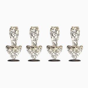Sillas de comedor italianas en forma de rosas salvajes de Tom Dixon para Cappellini, 1991. Juego de 4