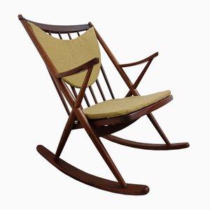 Rocking Chair en Teck par Frank Reenskaug pour Bramin, Danemark, 1960s
