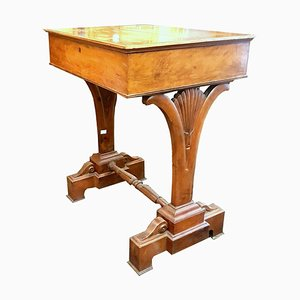 Antique Walnut Side Table, 1830s