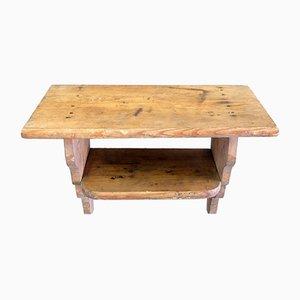 Tavolino vintage in legno di abete, anni '30