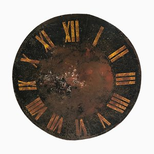 Antique Industrial Steel Clock Face