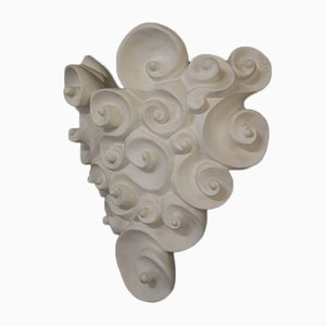 Vintage Plaster Sconce by Jean Boggio for Heirs, 1980s