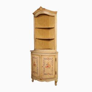 Mueble esquinero italiano Mid-Century de madera, años 60