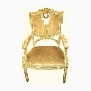 Antiker Beistellstuhl im Stil von Louis XVI, 1870
