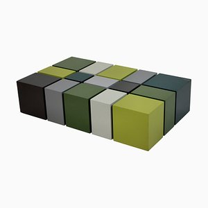 Vintage Cubist Coffee Table, 1960s